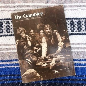 Kenny Rogers 1978 The Gambler Vintage Sheet Music